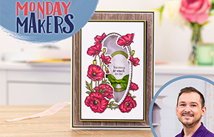 Monday Makers - 10th May - Floral Frame Stamp & Dies, Scene Edge'ables CACD