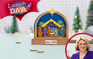 Launch Day - 12th July -NEW Christmas Dimensional Scene Dies (Domes)