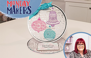 Monday Makers - 19th July - Christmas Edge'ables, Christmas Create-a-Card, Christmas Floral Word Stamp & Dies