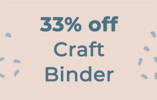 33% off Craft Binders