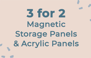 3 for 2 Magnetic Storage Panels and Acrylic Panels