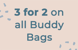 3 for 2 on all Buddy Bags