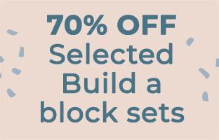 70% off Selected Build A Block Sets