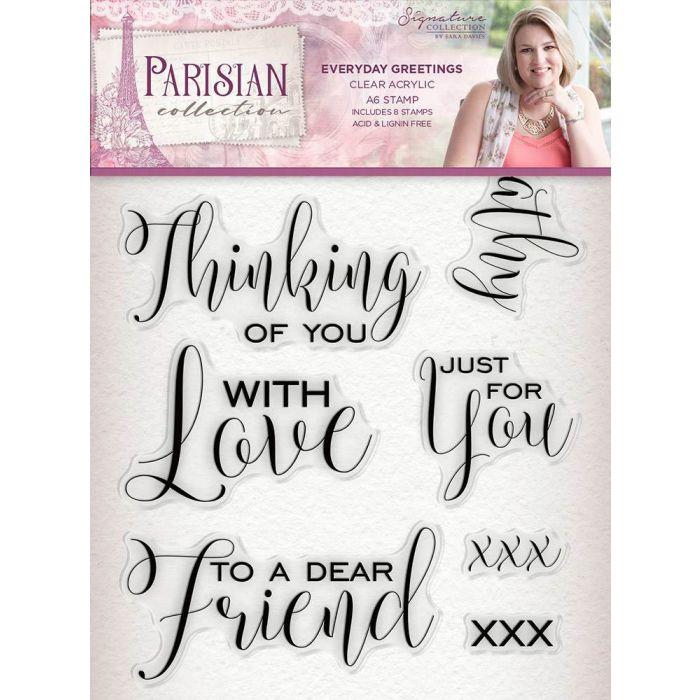 Sara Signature Parisian Acrylic Stamp - Everyday Greetings