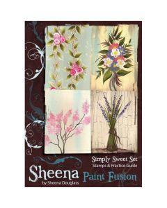 Sheena Douglass Paint Fusion A6 Rubber Stamp Set - Simply Sweet