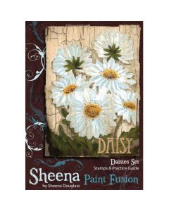 Sheena Douglass Paint Fusion A6 Rubber Stamp Set - Daisies