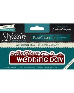 Die'sire Edge'ables Only Words Metal Die - Wedding Day
