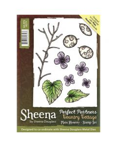 Sheena Douglass Perfect Partners Country Cottage A6 Rubber Stamp Set - Plain Honesty