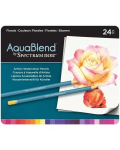 AquaBlend by Spectrum Noir 24 Pencil Set - Florals