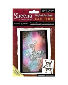 Sheena Douglass Perfect Partners Day of the Dead Metal Die - Paw Print Memories