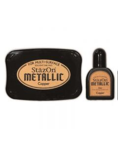 StazOn Metallic Solvent Ink Pad - Copper
