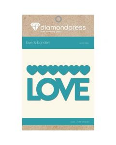 Diamond Press Word Dies - Love and Hearts