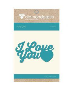 Diamond Press Word Dies - I Love You