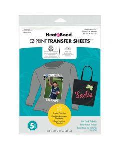 Heat'n Bond EZ Print Transfer Sheets (For Dark Fabrics)