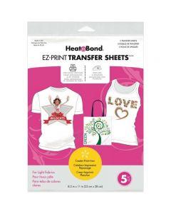 Heat'n Bond EZ Print Transfer Sheets (For Light Fabrics)