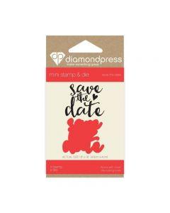 Diamond Press Mini Stamp and Die - Save the Date