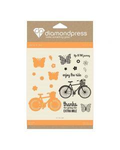 Diamond Press Stamp and Dies - Enjoy the Ride