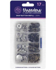 Threaders 17mm Snap Button Refill Pack - 20 Buttons