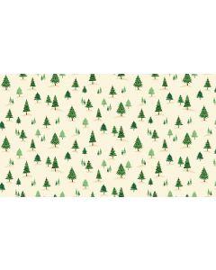 Makower Twelve Days Fabric - Mini Trees