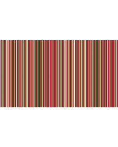 Makower Twelve Days Fabric - Multi Stripe Red