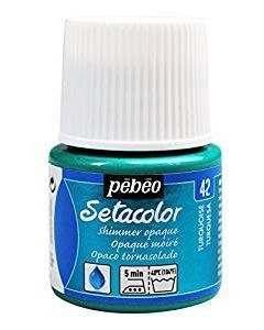 Pebeo Setacolour Shimmer Paint 45ml  - Summer Turquoise