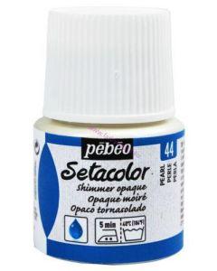 Pebeo Setacolour Shimmer Paint 45ml  - Pearl