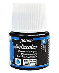 Pebeo Setacolour Shimmer Paint 45ml  - Black