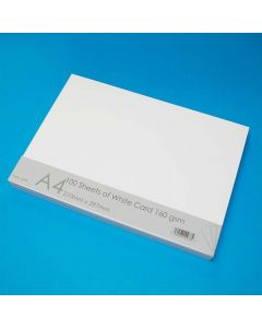 Craft UK 100 A4 Sheets Card - White