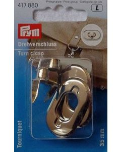 Prym Silver Turn Clasp for Bags