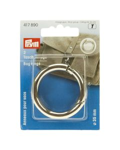 Prym Silver 35mm Bag Rings