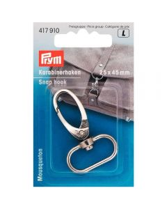 Prym Silver 25mm x 40mm Elliptical Snap Hook