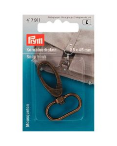 Prym Antique Brass 25mm x 40mm Elliptical Snap Hook