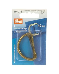 Prym Antique Brass 40mm D-Rings