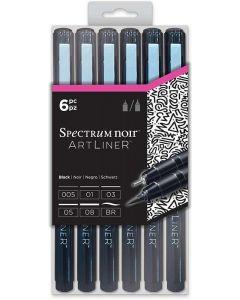 ArtLiner by Spectrum Noir - Black (6pc)