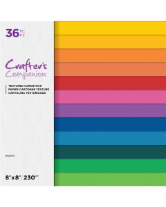 Crafter's Companion 8 x 8 Textured Cardstock - Brights