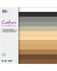 Crafter's Companion 8 x 8 Textured Cardstock - Neutrals