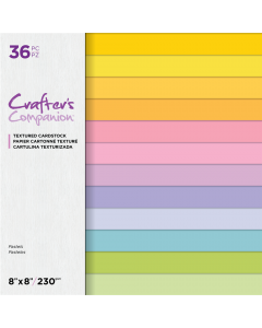 Crafter's Companion 8 x 8 Textured Cardstock - Pastels