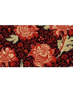 Makower Riviera Rose fabric - Jacobean Black