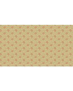Makower Riviera Rose fabric - Dotty Vines Tan