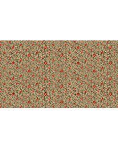 Makower Riviera Rose fabric - Mosaic Tan