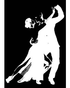 Imagination Crafts Art Stamps 135mm x 91mm - Ballroom Dancers