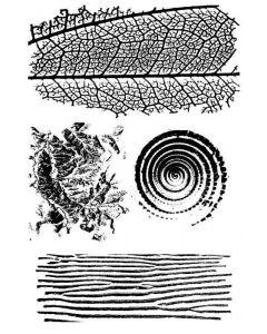 Imagination Crafts Art Stamps 135mm x 91mm - Natural Textures Set 1