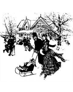Imagination Crafts Art Stamps - Ice Skating