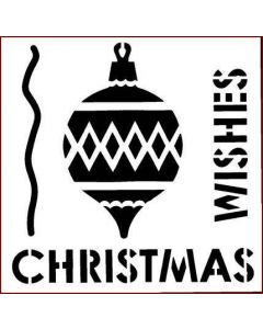 Imagination Crafts 6x6 Christmas Stencil - Christmas Wishes Bauble