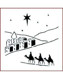 Imagination Crafts 6x6 Christmas Stencil - Bethlehem