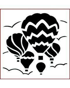 Imagination Crafts Stencil 6x6 - Balloon Sky