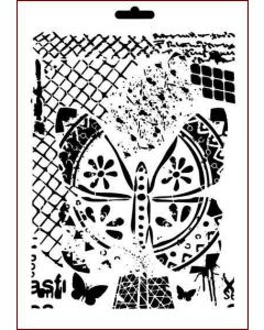 Imagination Crafts A4 Art Stencil - Crosshatch Elements