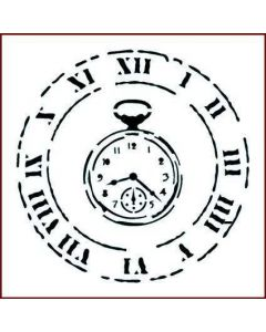 Imagination Crafts Stencil 6x6 - Clock and Fob