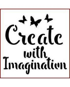 Imagination Crafts Mini Stencil - Create With Imagination