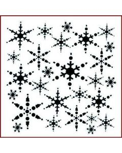 Imagination Crafts 6x6 Christmas Stencil - Snowflakes